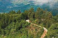 Landscape of Sierra del Espíritu Santo and town of Quetzaltepeque, Chiquimula, Guatemala