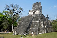 Temple II, Central Plaza, Tikal, Peten, Guatemala