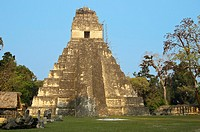 Temple I, Grand Jaguar, at the Central Plaza, Tikal, Petén, Guatemala