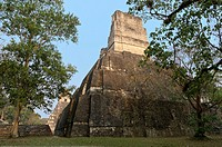Temples I and II, at the Central Plaza of Tikal, Petén, Guatemala