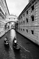 Two Gondola beneath the Bridge of Sighs, Venice