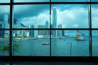 view of Victoria Harbour from the Hong Kong Convention and Exhibition Centre