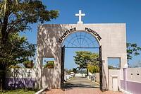 Entrance to the municipal cemetary Isla Colon, Bocas del Toro, Panama