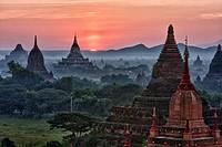 Myanmar, Burma, Bagan  Temples