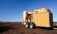 Mobile pneumatic sucking peat harvester / loader JIK-40DF trailer is used when peat is harvested from a peat bog  Location Multaharjunsuo Rautalampi F...