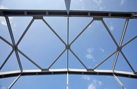 Riveted steel girders, used in a bridge support structure  Location Kivisalmi Rautalampi Finland Scandinavia Europe