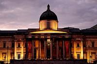 National Gallery, Trafalgar Square, London, England, UK, Europe.
