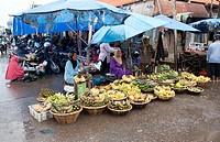 Market in Barjarmasin,Kalimantan, Borneo,Indonesia