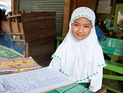 portrait of a child of Indonesia