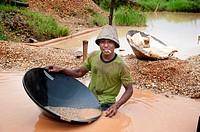 Diamond mine in cempaka, south kalimantan,borneo,indonesia,south-east asia