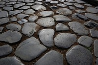 Ancient cobblestones at the Colosseum in Rome - Caution: For the editorial use only  Not for advertising or other commercial use!