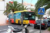 Spain , balearic island , ibiza bus