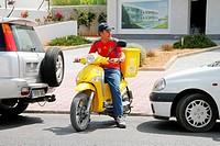 Spain , balearic island ,correos postal moped