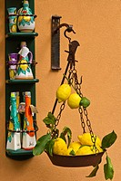 A store with attractive lemon fruit displays on the street in the town of Amalfi on the Gulf of Salerno in southern Italy