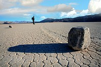 Death Valley, Moving Rocks, California, USA.
