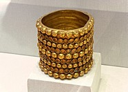 The Carambolo treasury, Bracelet, 8th century BC, Exhibition archaeological at the City Hall, Seville, Spain