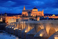 Spain, Andalusia, Cordoba, Cathedral, Puente Romano,