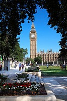 Big Ben and Houses of Parliament at Westminster in London UK