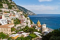 A view of the town of Positano and the Amalfi Coast, Italy