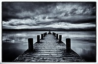 old jetty,lake windermere,lake district,cumbria,england,uk,europe