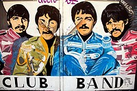 Band Club in memory of the Beatles, Salamanca, Castilla y Leon, Spain, Europe