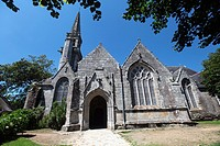 The church Juch, Brittany, Finistère