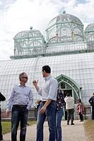 Visitors at Royal Greenhouses in Laeken