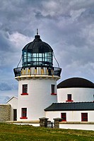 Clare Island lighthouse, Clare Island, Clew Bay, County Mayo, Ireland.