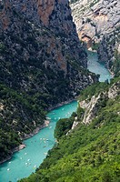 Europe, France, Var, Regional Natural Park of Verdon, Gorges du Verdon. The Grand canyon.