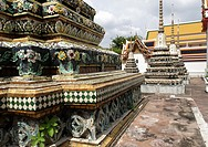 Chedi Rai near Phra Rabieng cloister Wat Phra Chetuphon, old name Wat Po The temple is actually much older than the city of Bangkok itself It was foun...