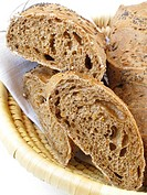 Slices of rye with poppy seeds