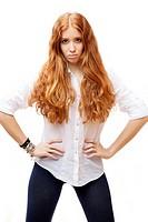redheaded girl.