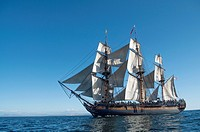 The Surprise under sail in the San Diego Bay