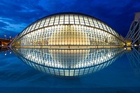 L´Hemisferic,The City of Arts and Science, designed by Santiago Calatrava,Valencia,Spain