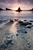 Sunset on the California coast near Mendocino