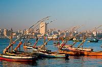 fishing boats, catembe, maputo, mozambique