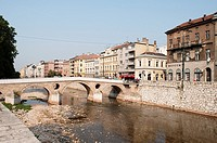 Latin Bridge - Ottoman bridge over the River Miljacka, Sarajevo, Bosnia and Herzegovina