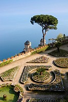 Villa Rufolo gardens, Ravello, Amalfi coast / Costiera Amalfitana, Province of Salerno, Campania, Italy, Europe