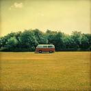 A camper van in a field