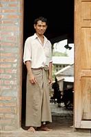 Worker at the door of his workshop at Mandalay