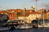 Habor of Sonderborg, Denmark, Baltic Sea