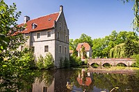 The moated castle of Senden, North Rhine-Westphalia, Germany, Europe