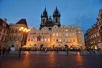 The Church of Our Lady Before Tyn in the Old Town Square, Prague, Czech Republic