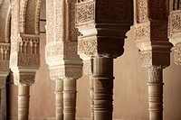Court of the lions, Alhambra, Granada, Andalusia, Spain