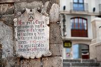 Plaque, Burgos, Spain