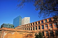 Institute of Continuing Education at the University of Barcelona IL3-UB, building Can Canela, old textile factory Can Canela, industrial architecture ...