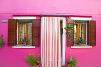 Italy, Venice, Burano: pink house