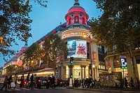 Paris, France, Christmas Shopping, French Department Store, Printemps, Dior Advertising