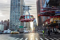 Roosevelt Island tramway in New York City