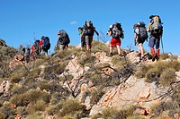 Trekking on the Larapinta Trail  West McDonnell Ranges, Central Australia